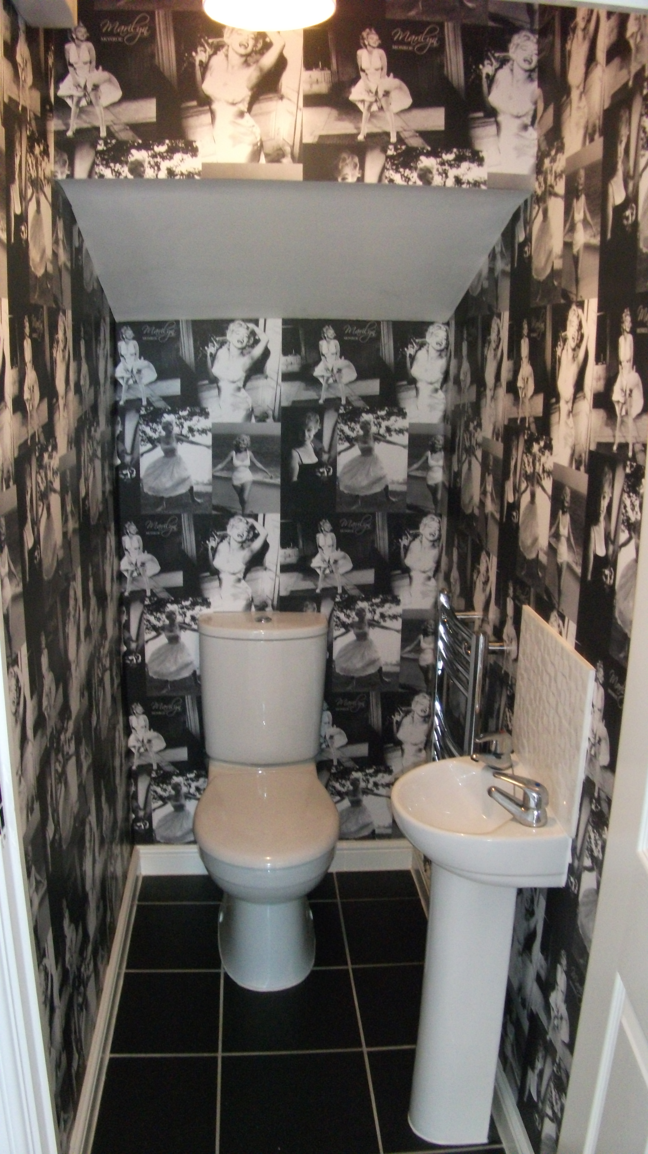 Marilyn Monroe Wallpaper In A Cloakroom Quite Simply Property